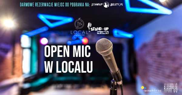 Stand-up No Limits: Open mic PL