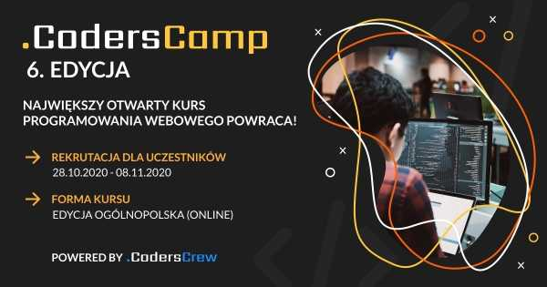 CodersCamp 2020: od 0 do web developera [bezpłatny kurs online]